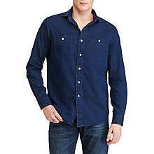 Buy Polo Ralph Lauren Standard Fit Indigo-Dyed Chambray Shirt, Indigo Online at johnlewis.com