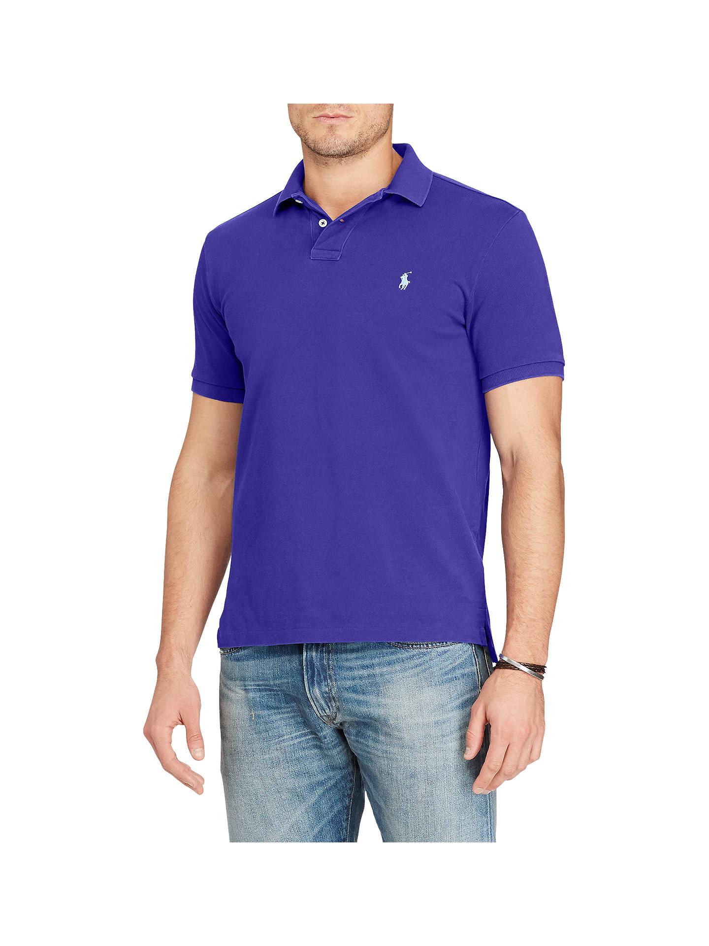 ff3f054b Buy Polo Ralph Lauren Slim Fit Short Sleeve Polo Shirt, Foster Blue, M  Online ...
