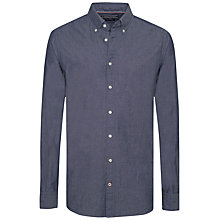 Buy Tommy Hilfiger Cotton Chambray Internal Floral Print Shirt, Indigo Online at johnlewis.com