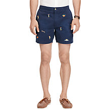 Buy Polo Ralph Lauren Classic Fit Hawaiian Polo Prepster Shorts, Coastal Navy Online at johnlewis.com