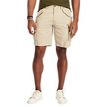 Buy Polo Ralph Lauren Classic Fit Cotton Cargo Shorts, Boating Khaki Online at johnlewis.com