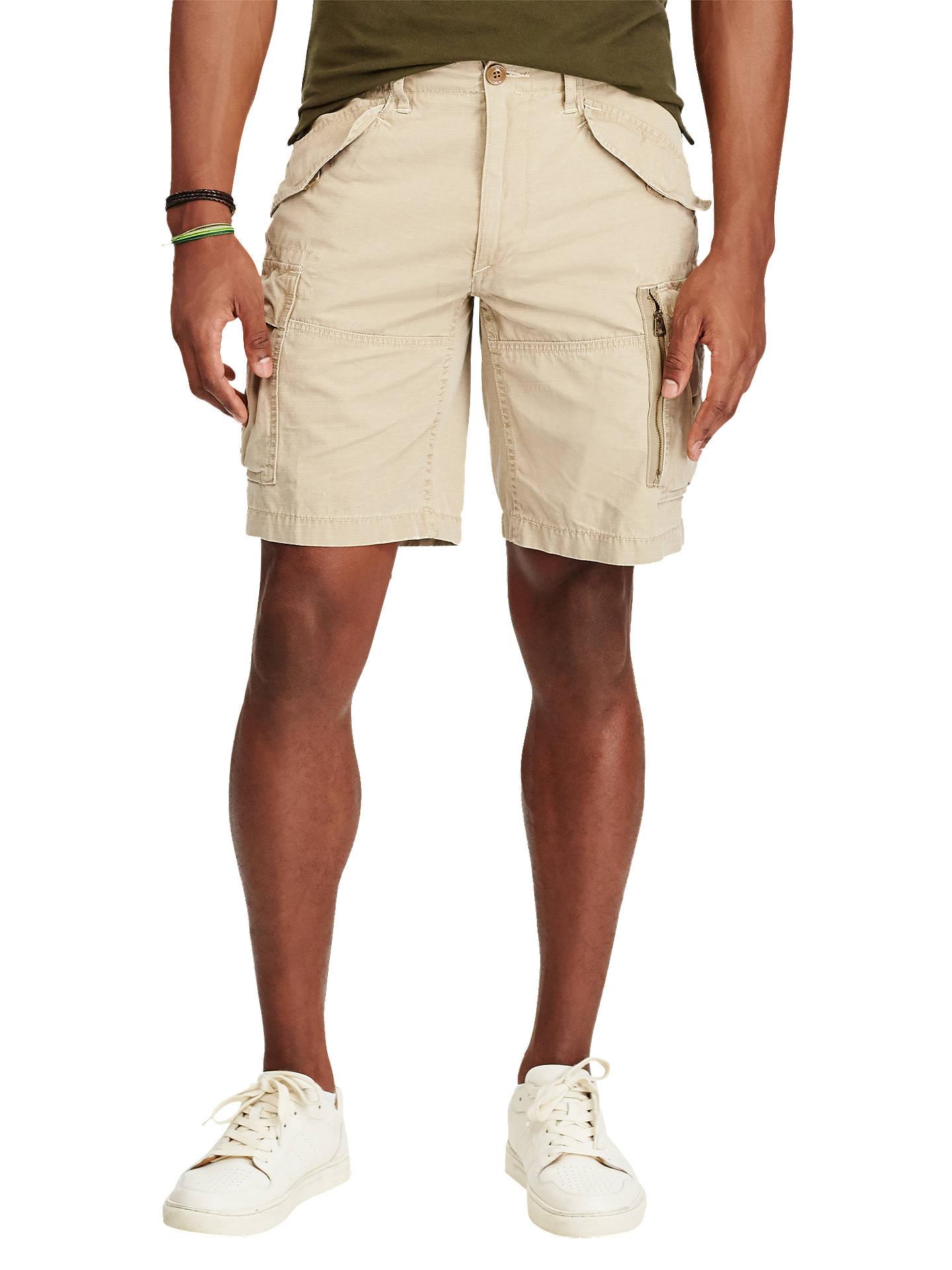113e83d3c0 Buy Polo Ralph Lauren Classic Fit Cotton Cargo Shorts, Boating Khaki, 30R  Online at ...