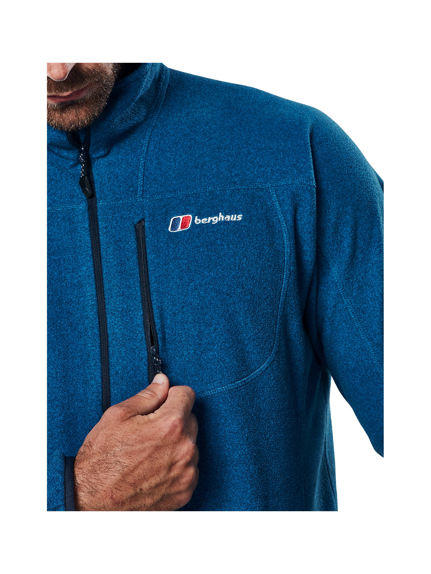 Buy Berghaus Spectrum Full Zip Men's Fleece, Blue, S Online at johnlewis.com