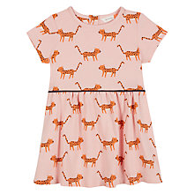 Buy John Lewis Baby Leopard Dress, Pink Online at johnlewis.com