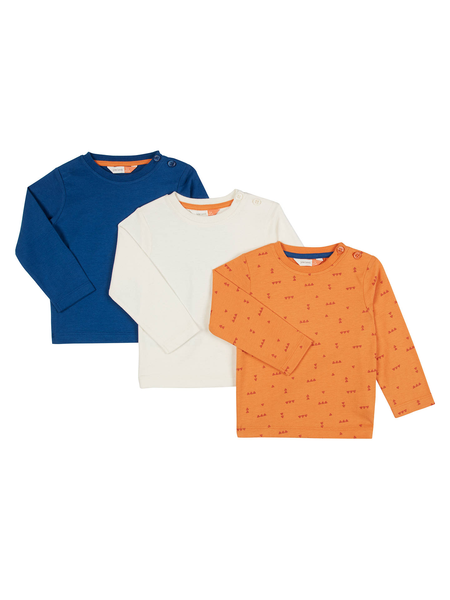 BuyJohn Lewis Baby Long Sleeve Cotton T-Shirts f56ebfaad04