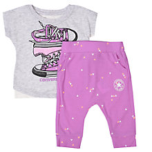 Buy Converse Baby Play Tiger T-Shirt and Joggers Set, Fuchsia Online at johnlewis.com