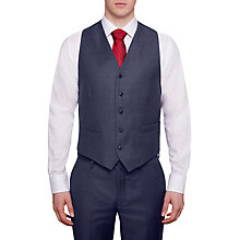Buy Hackett London Italian Sharkskin Wool Waistcoat, Airforce Blue Online at johnlewis.com