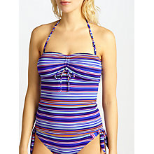 Buy John Lewis Sun Drenched Stripe Bandeau Tankini Top, Multi Online at johnlewis.com