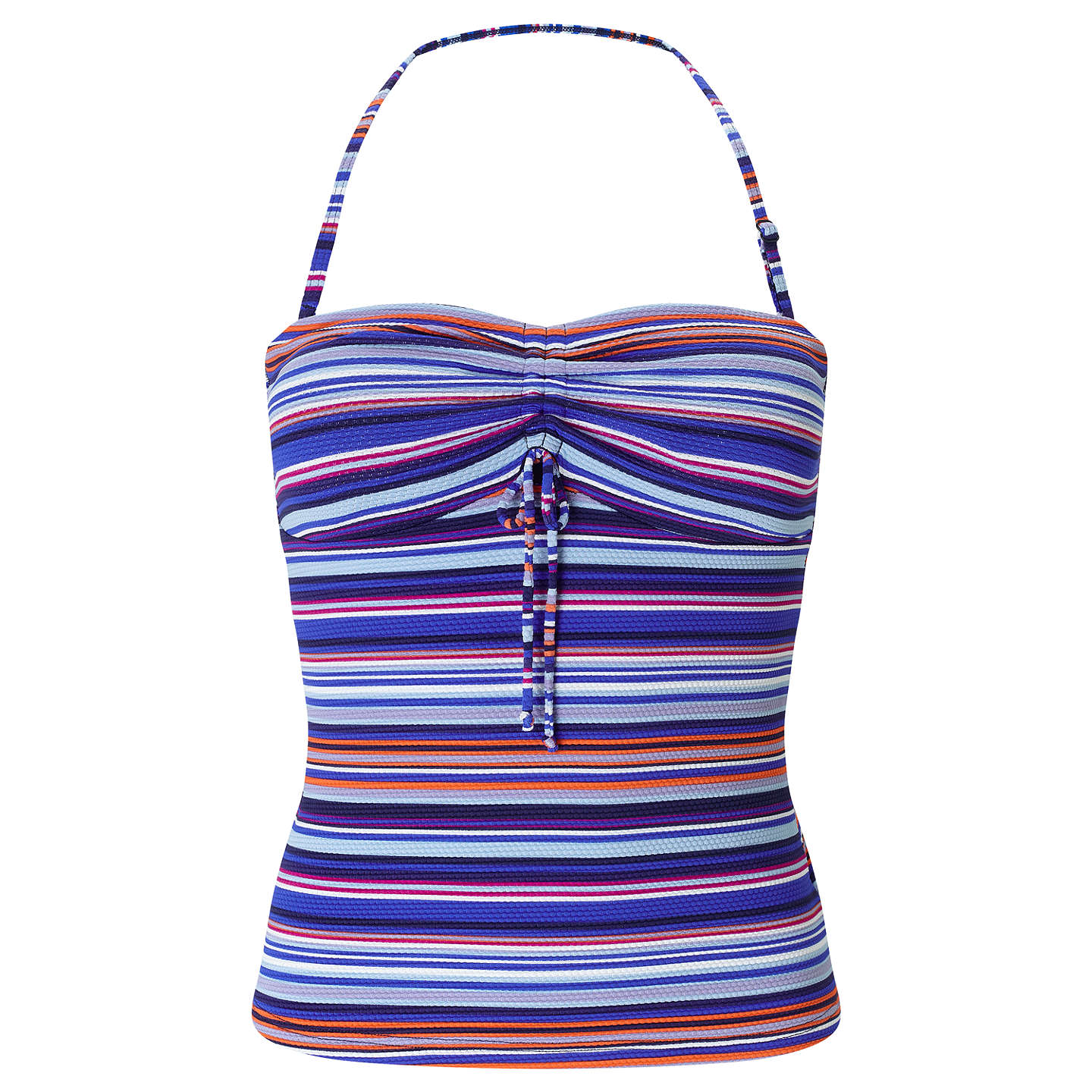 BuyJohn Lewis Sun Drenched Stripe Bandeau Tankini Top, Multi, 8 Online at johnlewis.com