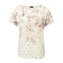 Buy Gerry Weber Embroidered Printed Top, Multi Online at johnlewis.com