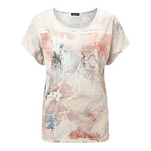 Buy Gerry Weber Burnout Printed T-Shirt, Multi Online at johnlewis.com