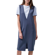 Buy Selected Femme Anya Deep V Pinafore Dress, Ombre Blue Online at johnlewis.com
