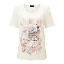 Buy Gerry Weber Placement Print T-Shirt, Ecru Online at johnlewis.com