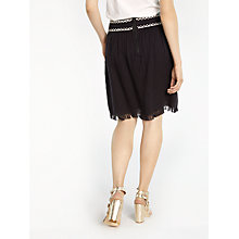 Buy AND/OR Short Embroidery Skirt, Black Online at johnlewis.com