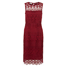 Buy Hobbs Clarissa Dress, Burgundy Online at johnlewis.com