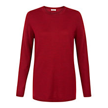 Buy Hobbs Cassidy Jumper, Cherry Red Online at johnlewis.com