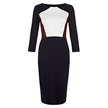 Buy Hobbs Ashley Dress, Navy / Multi Online at johnlewis.com