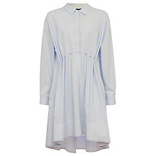 Buy French Connection Smithson Stripe Flared Dress, Salt Water/Summer White Online at johnlewis.com