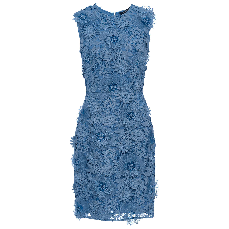 French Connection Manzoni Lace Dress, Meru Blue at John Lewis