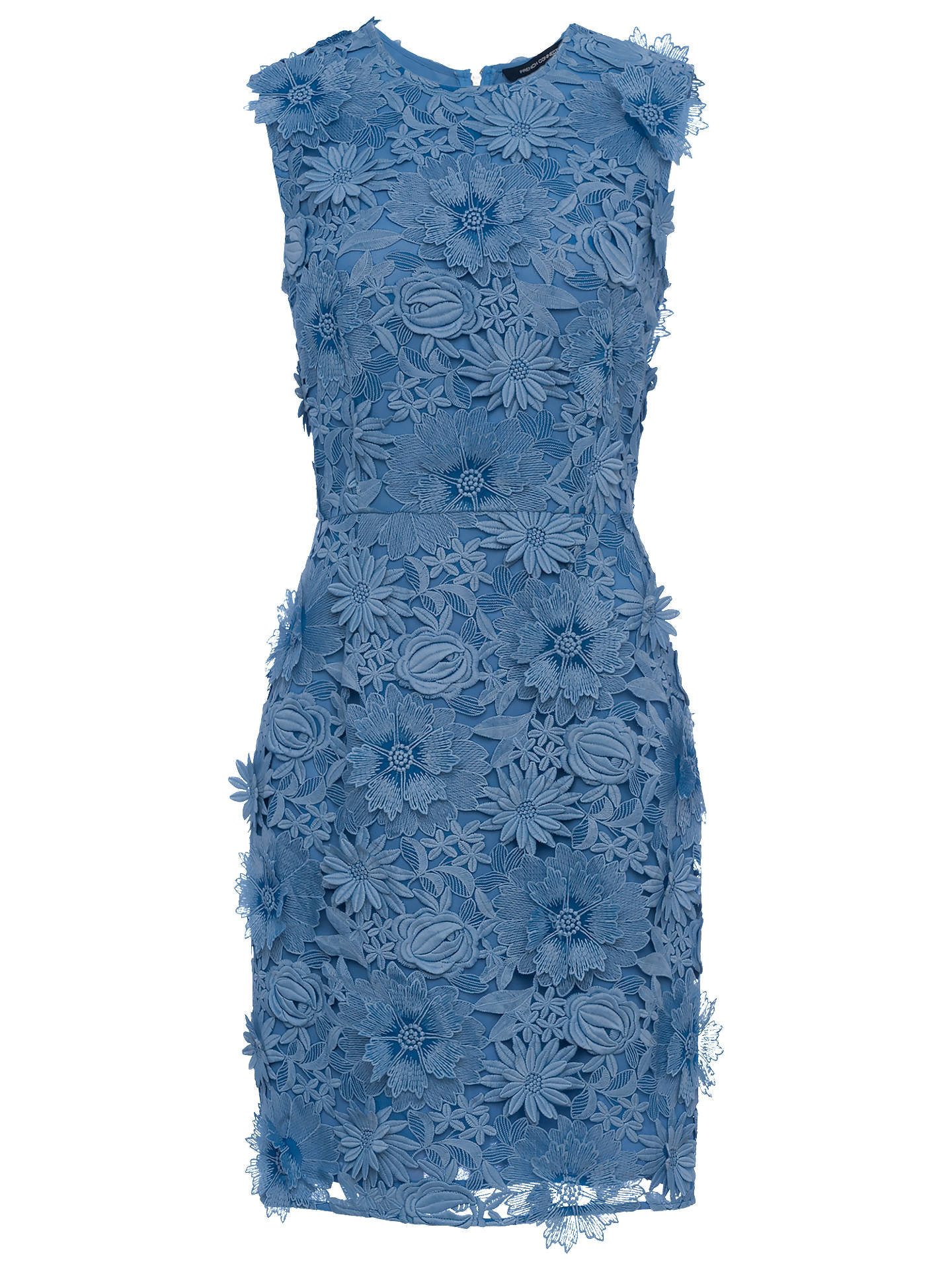 29a4f518958 Buy French Connection Manzoni Lace Dress, Meru Blue, 6 Online at  johnlewis.com ...