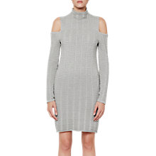 Buy French Connection Mozart Ladder Dress, Light Grey Online at johnlewis.com