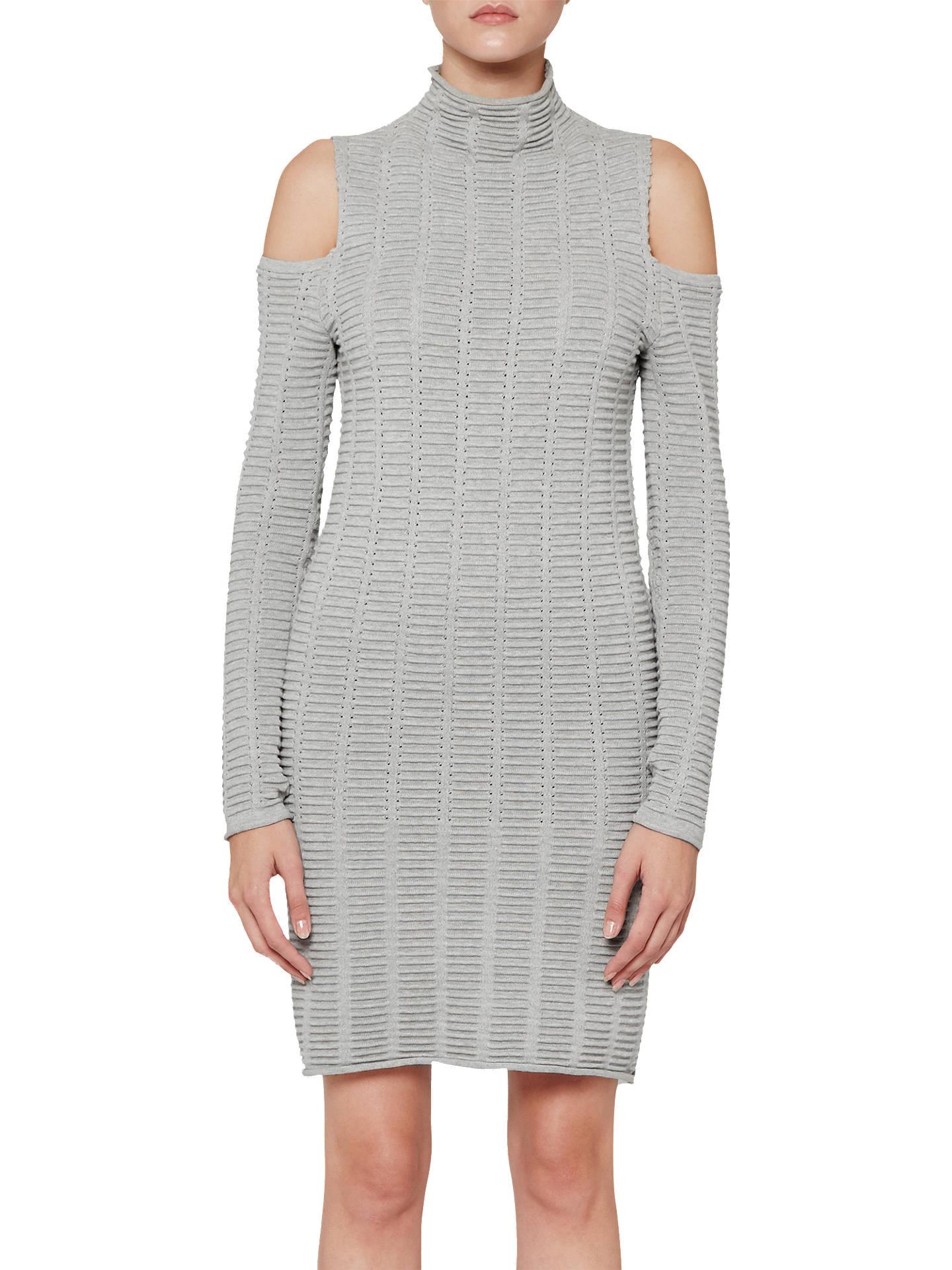 167cd968146 Buy French Connection Mozart Ladder Dress, Light Grey, 6 Online at  johnlewis.com ...