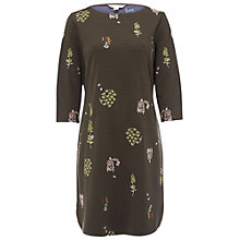 Buy White Stuff Floral Embroidered Jersey Dress, Hawthorne Green Online at johnlewis.com