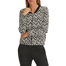 Buy Betty & Co. Zipped Cardigan, Grey/Black Online at johnlewis.com