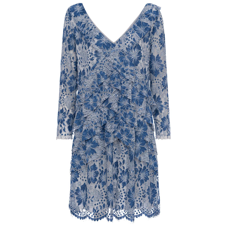 French Connection Antonia Lace Dress, Meru Blue at John Lewis