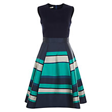 Buy Hobbs Bella Dress, Navy/Multi Online at johnlewis.com