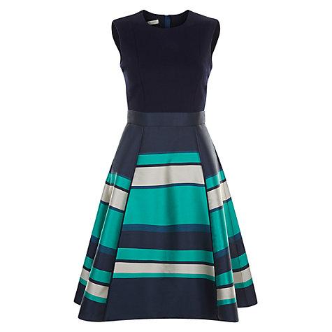 Buy Hobbs Bella Dress, Navy/Multi | John Lewis