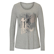 Buy Betty & Co. Printed Motif T-Shirt, Silver/Black Online at johnlewis.com