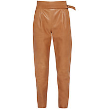 Buy French Connection Goldenburg Leather Trousers, Terra Tan Online at johnlewis.com