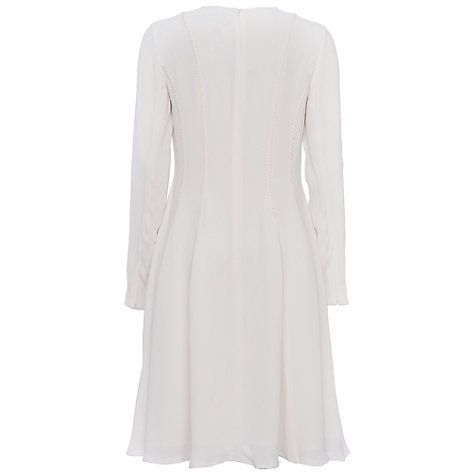 Buy French Connection Modern Kantha Drape Jersey Dress, Summer White Online at johnlewis.com