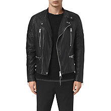 Buy AllSaints Slade Biker Jacket, Black Online at johnlewis.com