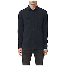 Buy AllSaints Bigfork Check Heather-Dyed Slim Shirt Online at johnlewis.com