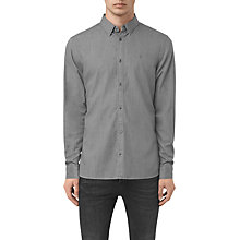 Buy AllSaints Caligula Slim Fit Shirt, Grey Online at johnlewis.com