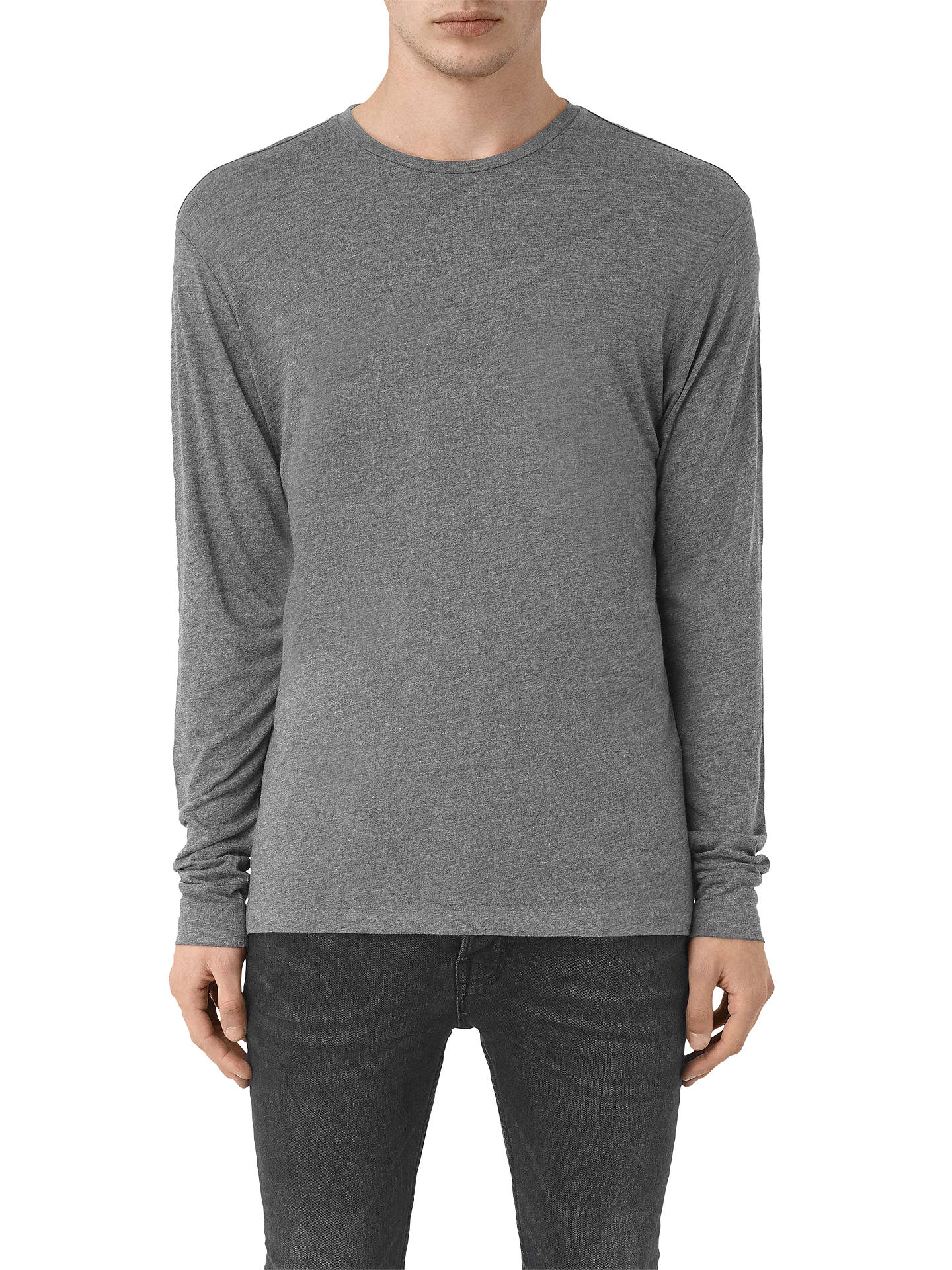 T Neck At Charcoal Shirt Marl Crew Sleeve Long Cedarn Allsaints pAxq6X1X