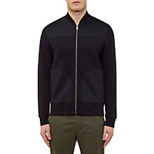 Buy Ted Baker Wunda Jersey Bomber Jacket, Navy Online at johnlewis.com