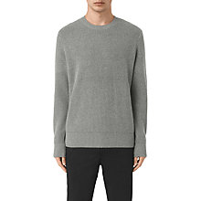 Buy AllSaints Karnett Crew Jumper, Grey Marl Online at johnlewis.com