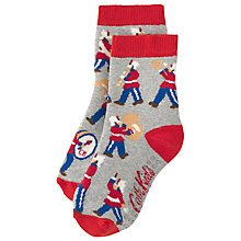 Buy Cath Kidston Children's Marching Band Slipper Socks, Grey Online at johnlewis.com