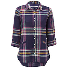 Buy White Stuff Effortless Check Shirt, Ink Pot Blue Online at johnlewis.com
