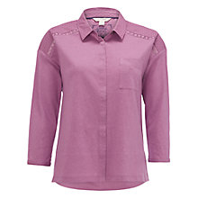 Buy White Stuff Yannie Yoke Shirt, Momo Pink Online at johnlewis.com