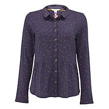 Buy White Stuff Mini Spot Jersey Shirt, Navy Online at johnlewis.com