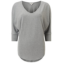 Buy Miss Selfridge Three Quarter Sleeve T-Shirt, Grey Online at johnlewis.com