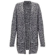 Buy Miss Selfridge Longline Boucle Cardigan, Black Online at johnlewis.com