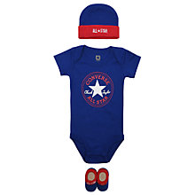 Buy Converse Baby 3 Piece Bodysuit, Hat and Bootie Gift Set Online at johnlewis.com