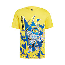 Buy LEGO Boys' Nexo Knight Short Sleeve T-Shirt, Yellow Online at johnlewis.com