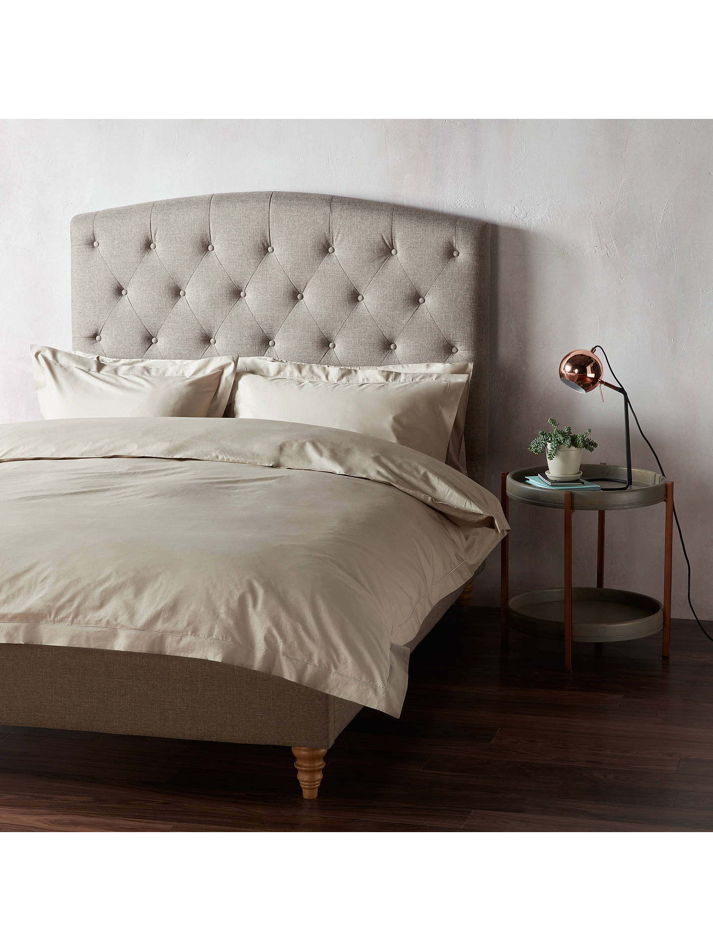 BuyJohn Lewis & Partners 400 Thread Count Crisp & Fresh Egyptian Cotton Oxford Pillowcase, Latte Online at johnlewis.com
