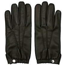 Buy Reiss Thornton Dents Leather Gloves, Khaki Online at johnlewis.com